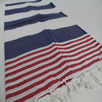 Dark Blue and Red Marine Towel Peshtemal Manufacturer from the heart of textile