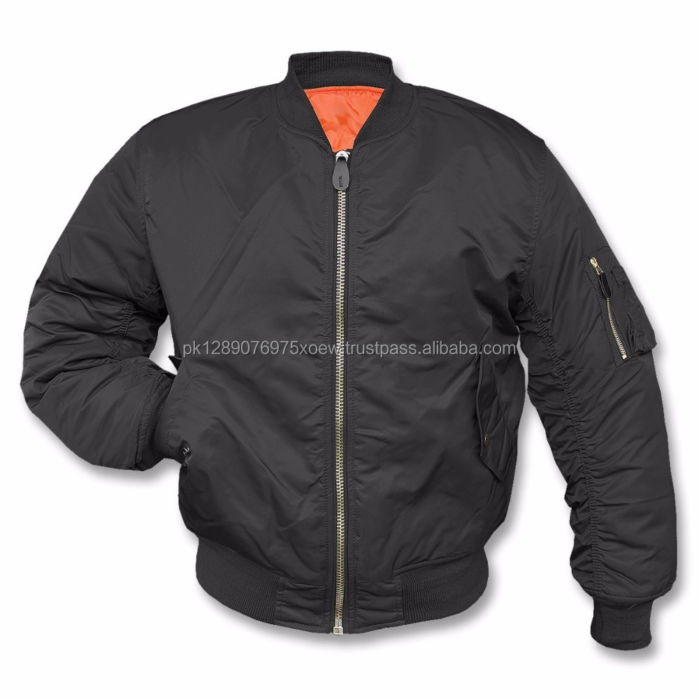 nylon poly style for man bomber jackets, custom nylon popular man bomber jackets, wholesale cheaper winter wear adult jackets