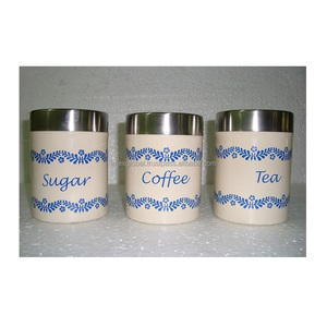 High Quality Metal tea/coffee & sugar canister kitchen container