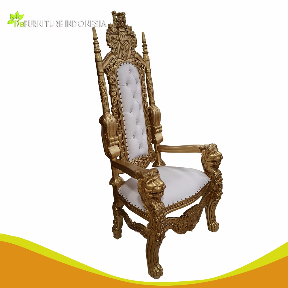 Luxury King Throne Chair, Solid Wood mahogany Throne Chair, king throne chair rental READY STOCK