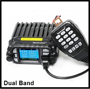 SURECOM KT-8900D Quad Band 136-174/220-260/350-390/400-480 Mini Color Screen Transceiver Mobile Radio