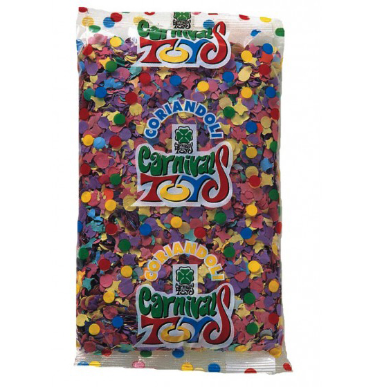Multi Color Paper Confetti for Mardi Gras, Carnival and Party - 1 kg