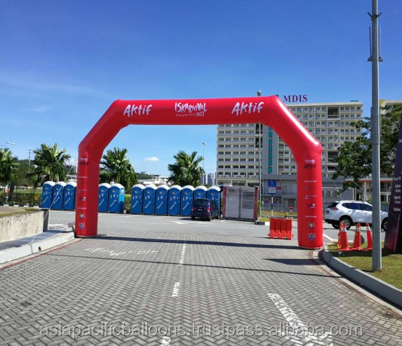 Pentagon Marathon Inflatable Arch with full color printing