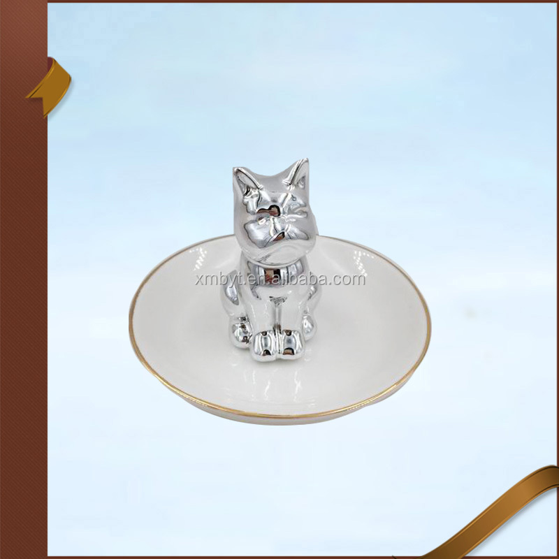 Wholesale Silver Cat Jewelry Stand Holder