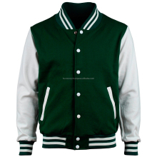 Varsity Sportswear Men's Satin, Wool, Fleece Baseball Trim Striped Jackets
