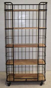 Industrial Metal Pipe Display Storage Shelve
