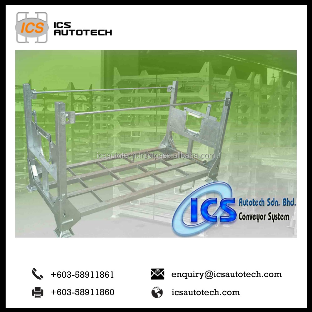Wire Mesh Cage industrial Stackable Metal Pallet for Storage Racking System