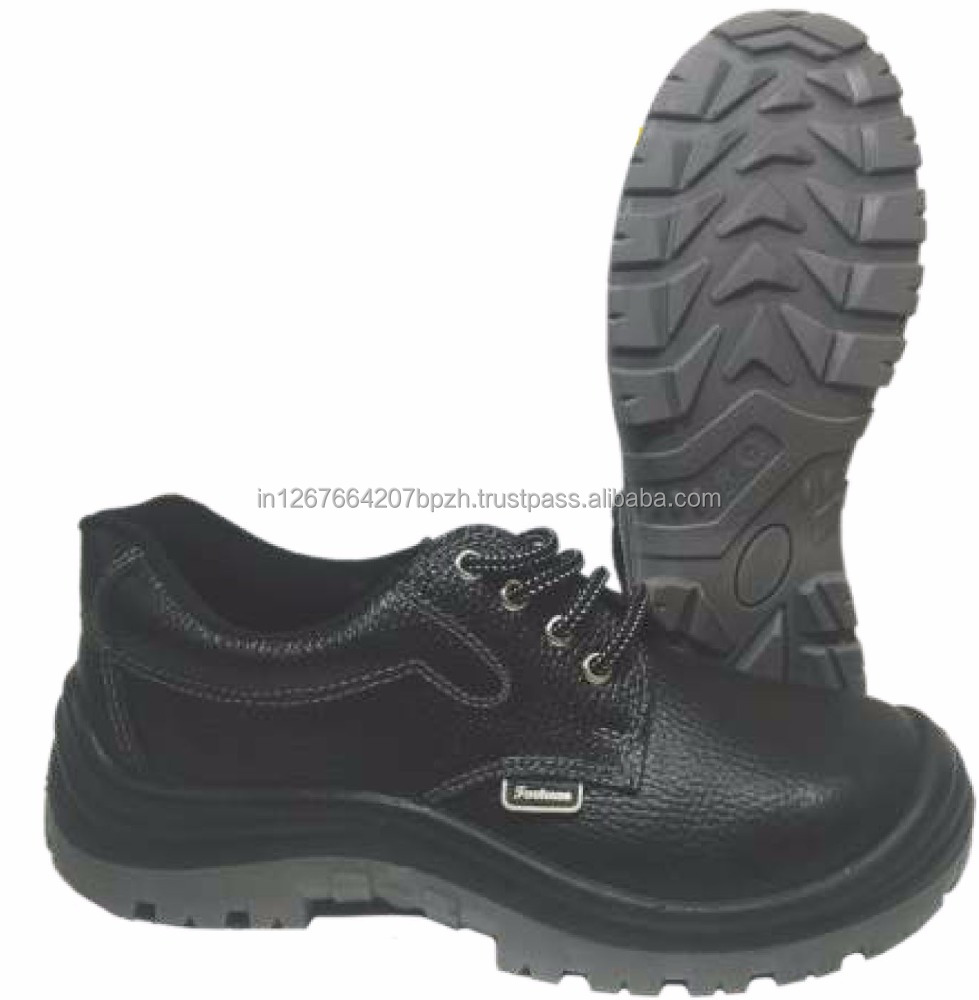 Men's Buffalo Leather Safety Shoes Engineering Working Boots Russian Low Price Safety Shoes, Steel Toe Inserts for Shoes