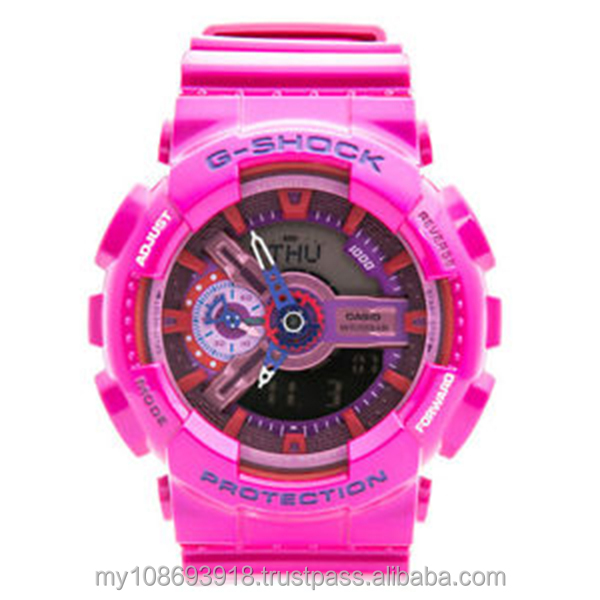 GA-110MC-4A Standart Digital Pink Resin Strap Mens Watch