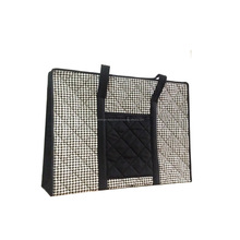 Black & White Traditional Thai Quilted Cotton Shoulder Ladies Handbag