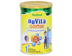Height development Nuvita Grow 1+ powder milk