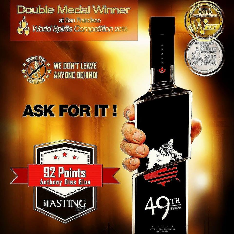 49th Parallel Gluten Free Premium Vodka
