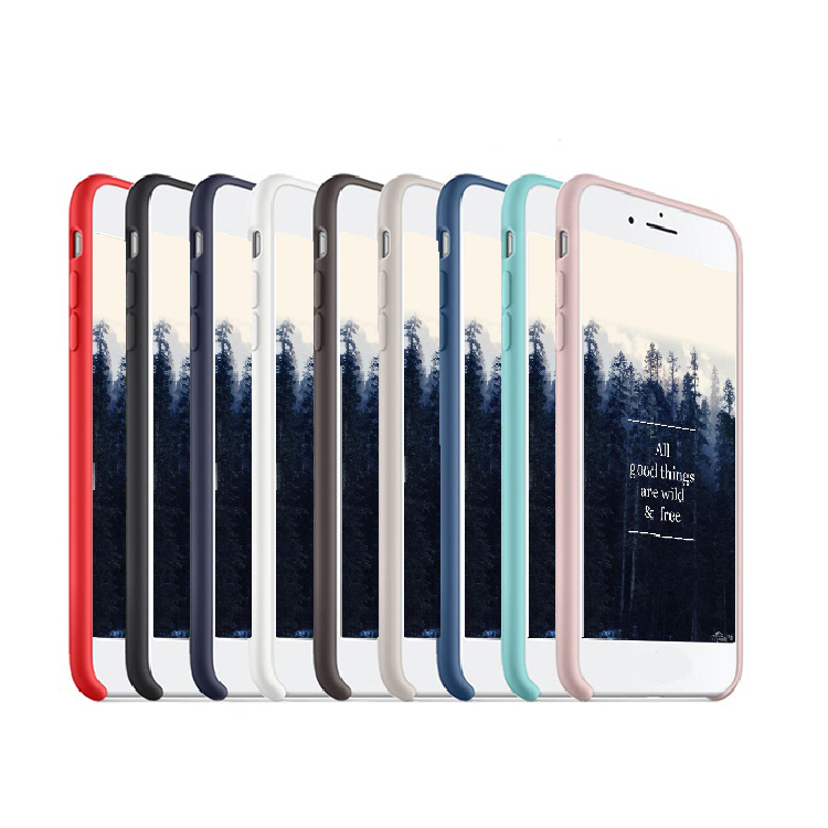 Liquid Silicone Shockproof case cover for iphone 8 8 plus, case for iphone 8