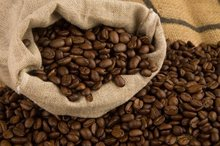 Robusta coffee, Arabica coffee. Roasted and green