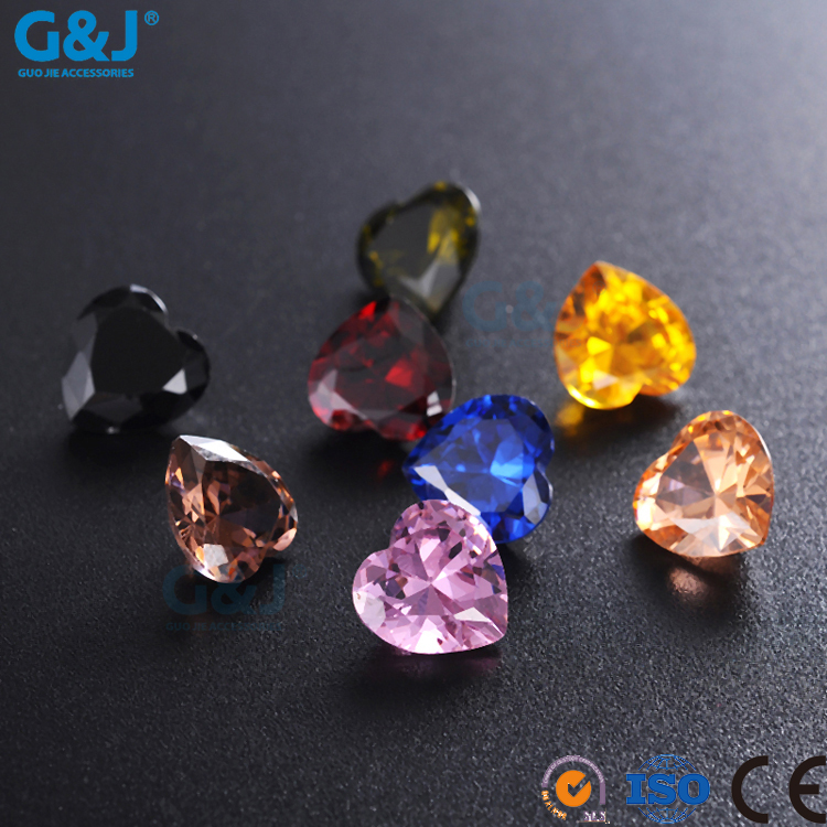 guojie brand Factory Directory Heart Shape Hair Accessories Factory rhinestone