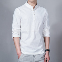 Stand Up Collar Long Sleeve New Fashion shirt for men/Men's stand up collar designer shirts