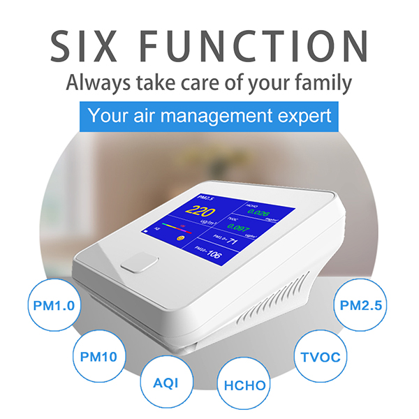LCD display PM2.5 Detecting Gas indoor air quality monitor