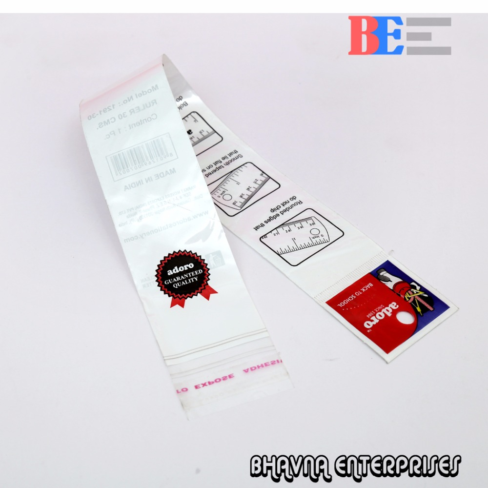 Plastic resealable bags BOPP bags for apparel garment poly packing