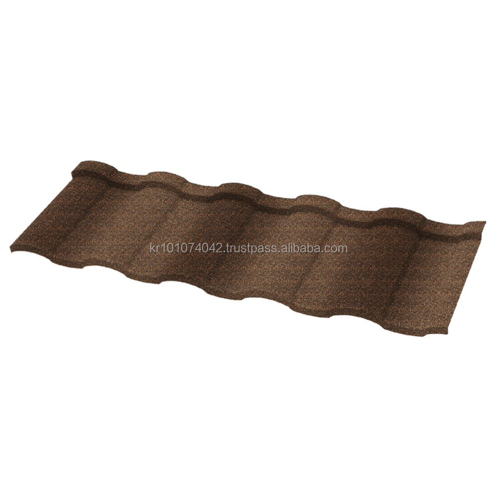 New and best collection DS ROMAN stone chip coated steel roof tile