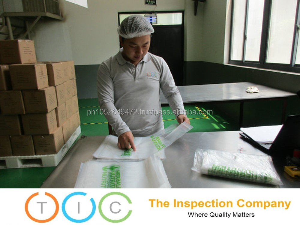 Pre Shipment Inspection service printed plastic bags in Cambodia