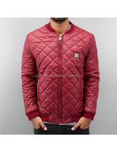satin bomber jacket/Quilted Faux Leather Flight Jacket clothing manufacturer custom mens quilted
