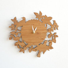 china supplier custom laser cut wood decorative wall clock