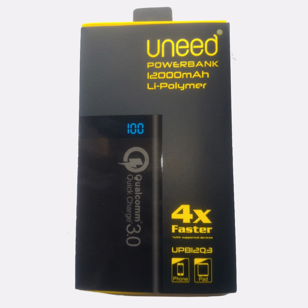 UNEED Power Bank 12000mAh Li-Po Quick Charge 3.0