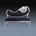 Furniture Classic Wooden Mahogany Antique Silver Carved Sofa Italian Style