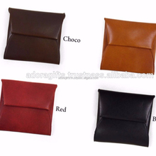 custom coin holder wallets / fashion pocket coin holder in genuine leather / cheap coin holder natural color