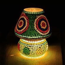Classic Beautifully Designed Multicolored Indian Style Mushroom Table Lamp