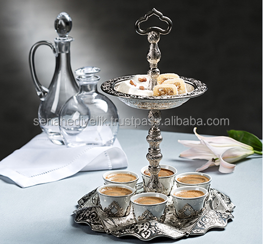 Arabic coffee set with Cookie Case For 6 Person
