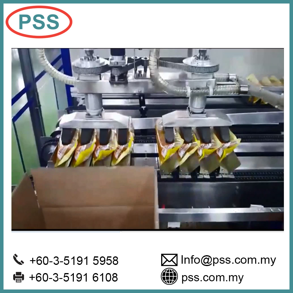 Automatic cartoning packaging line PSS Secondary Packing case erector Packer bundling machine