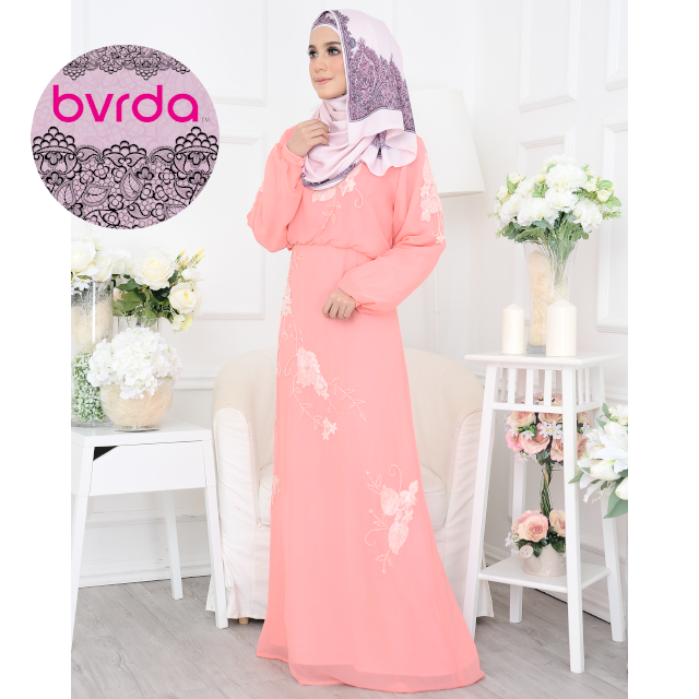 Premium Quality Exclusive Modern Single-piece Ladies Dress with Floral motif and beading for Muslim Wear Abaya