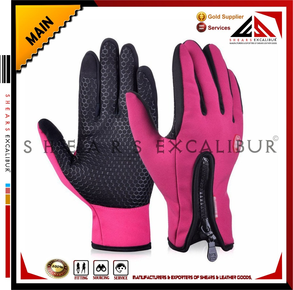 Nylon / Mesh / Conductive Fabric / Velvet-Lining Racing Cycling Motorcycle Riding Touchscreen Gloves