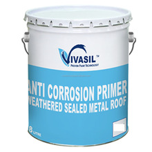 ANTI CORROSION PRIMER FOR METAL ROOF COATING WEATHERED SEAL PERFORMANCE WITH HEAT REFLECTIVE ROOF PROPERTIES 2 IN 1