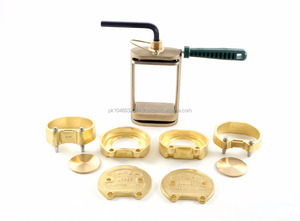 DENTAL LABORATORY LAB SPRING PRESS COMPRESS WITH TWO FLASK BRONZE 3 PIECES Denture Flask Compressor Parts dental Lab Equipment
