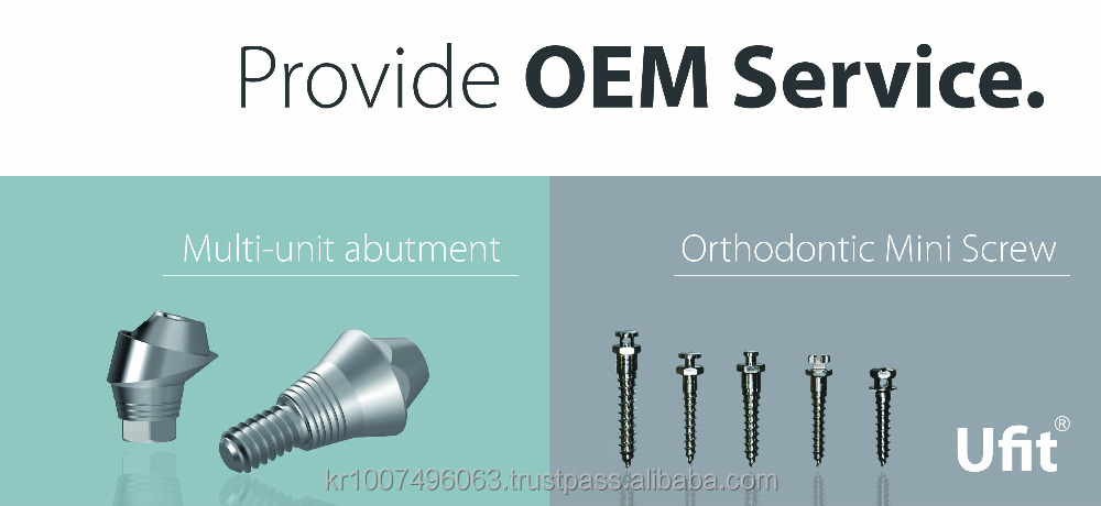 OEM services for implants and screws