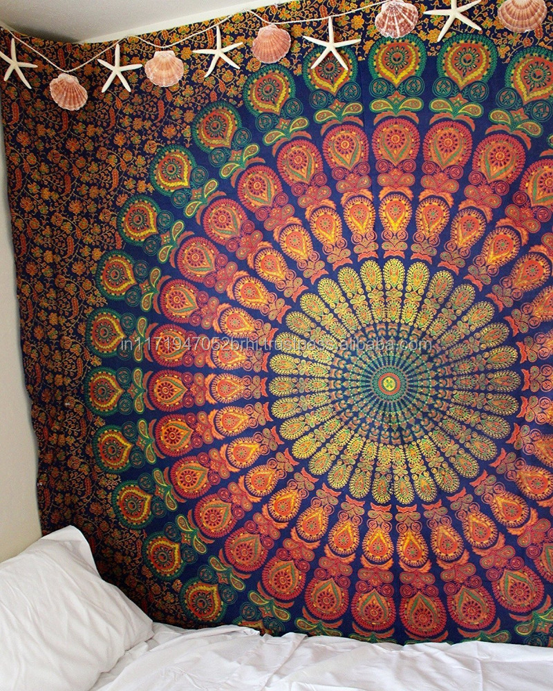 indian mandala home dacor rainbow Boho Hippie Beach wall tapestry