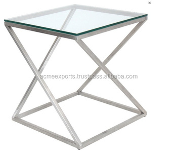 Stainless Steel Simple Decorative Side Coffee Table
