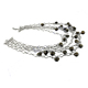 Smoky Quartz Gemstone beads 925 Silver Necklace