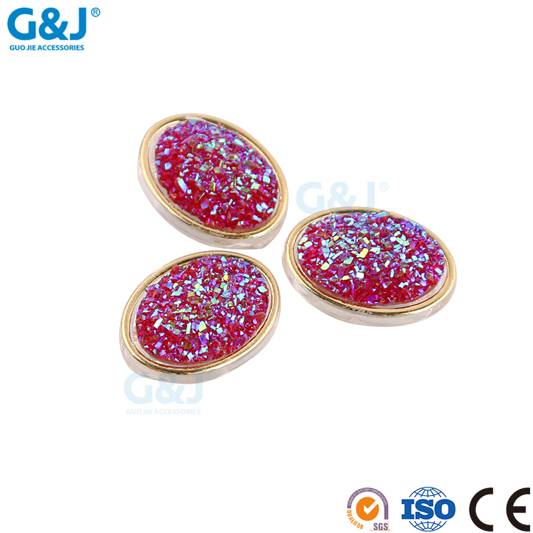 Guojie brand profession design quality fashionable beauty red ABS cup with resin stone