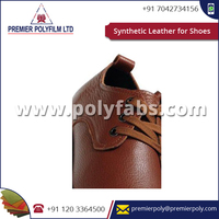 Polishing Embossed PVC Synthetic Shoe Leather for Men Shoes