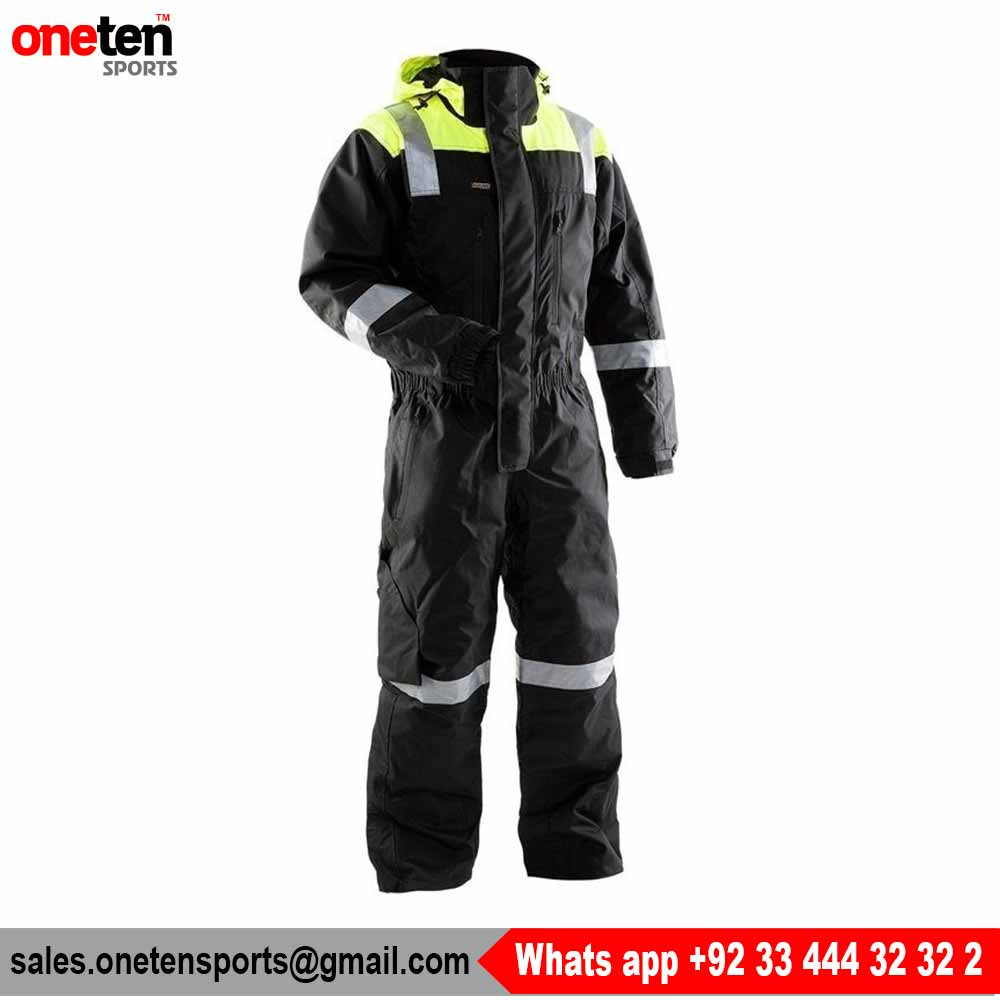 Construction polycotton hi vis safety workwear coverall Hi vis safety coverall