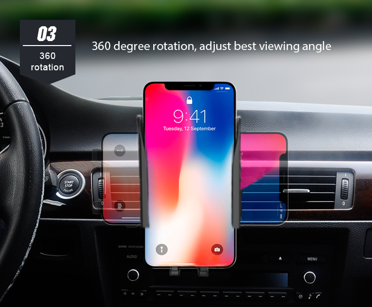 360 Degree Car Cell Phone Holder For Car Air Vent Clip Air Vent Car Phone Holder