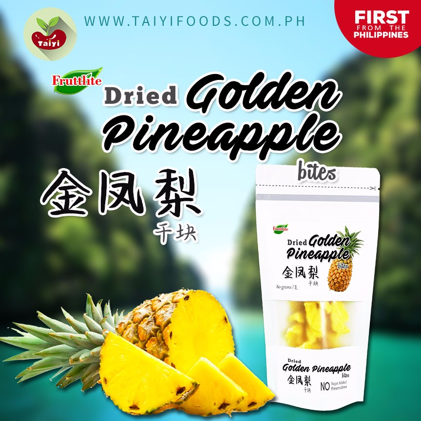 Philippine Dried Golden Pineapple - NEW Health Fruit Snack