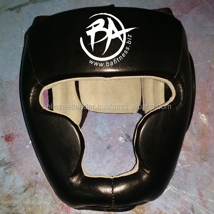 Quality Boxing A Grade Cow Hide Leather Maya Hide Leather Boxing MMA Headgear UFC Head Guard Sparring Helmet Fighting Protector