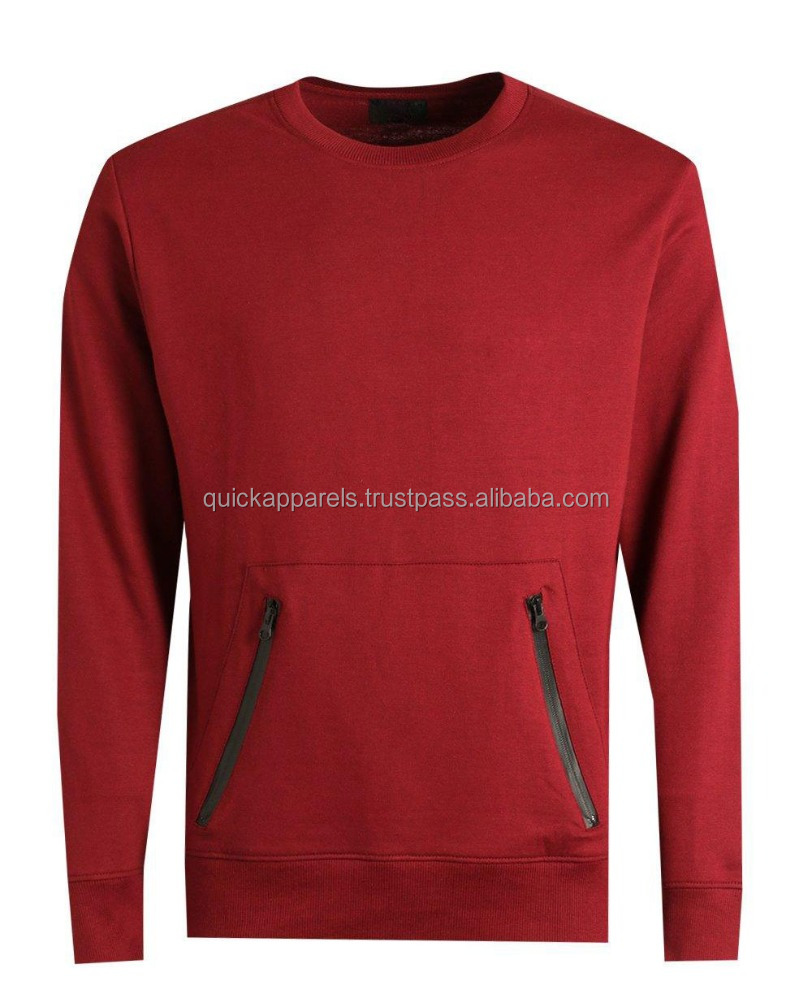 Custom Made Oversized Men Cotton Plain Sweatshirt With Your Own Logo Long