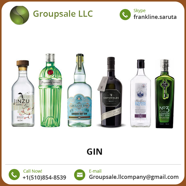 Exporter and Supplier of Widely Selling Natural Flavor Gin at Low Price