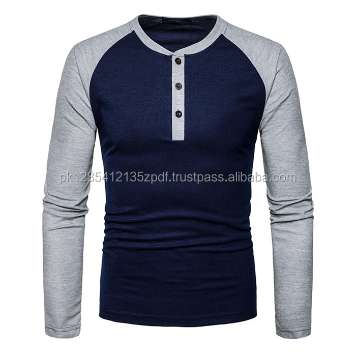Fashion Men,s Casual Shirts Business Dress T-shirt Long Sleeve