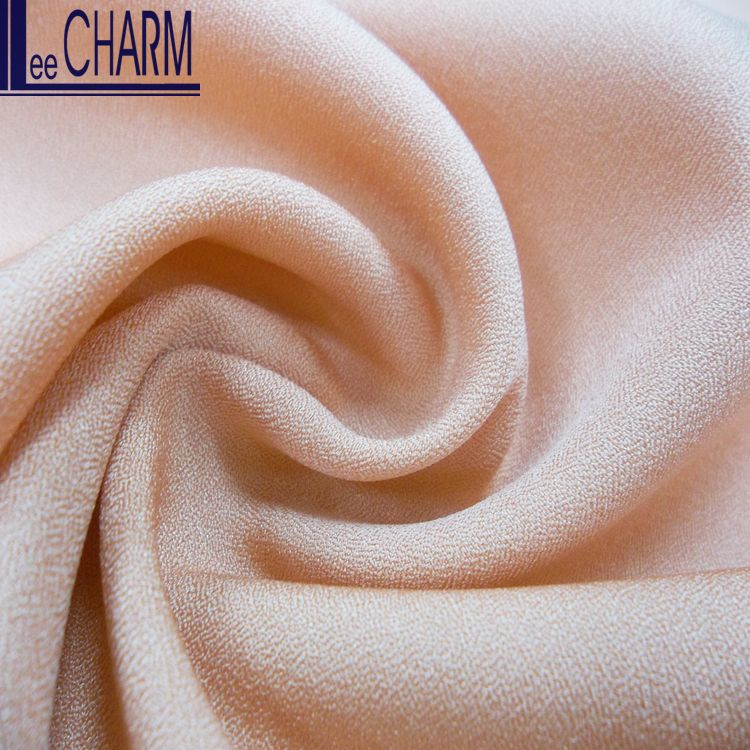 LCL169 Polyester Cloth Material Back Crepe Satin Plain Fabric